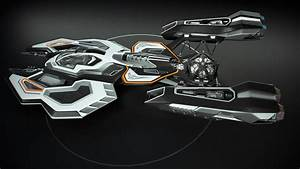 Spaceship 3D concept design 3D Model animated rigged MAX ...