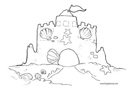 Coloring With Sand by Free Drawing Of A Sandcastle Free Clip Free