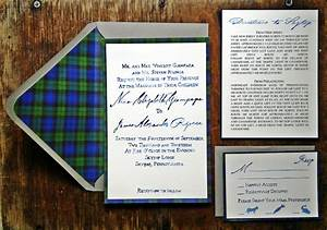 elegant plaid wedding invitations onewedcom With wedding invitations with tartan