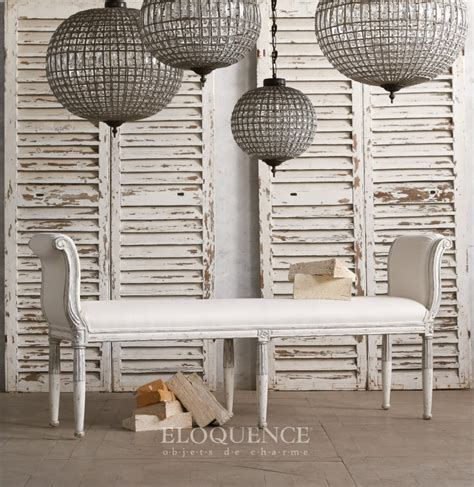 Cottage Chic Store by Cottage Chic Store Eloquence Bench Mademoiselle