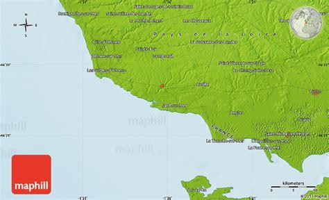 physical map of les sables d olonne