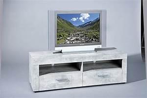 Meuble Tv Beton : meuble tv beton gris clair ~ Teatrodelosmanantiales.com Idées de Décoration