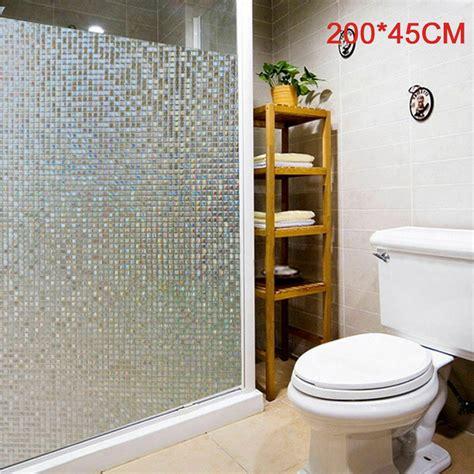 Bathroom Glass Door Cover by 3d Static Cling Window Sticker Door Glass Paper