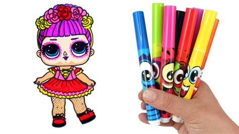 draw lol doll bebe bonita lol surprise  wraps doll drawing  coloring  kids
