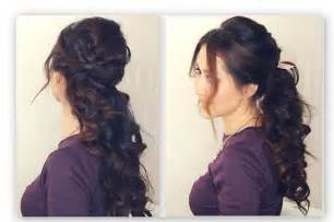 Half-Up Prom Hairstyles for Long Hair