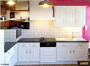 Relooker Meuble Cuisine : relooker une vieille cuisine jg35 jornalagora ~ Mglfilm.com Idées de Décoration