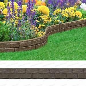 Bordure De Jardin : bordure de jardin effet briques 120cm caoutchouc recycl ~ Melissatoandfro.com Idées de Décoration