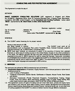 consulting and fee protection agreement template sample With consulting fee agreement template