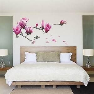 Elegant wall decor decal sticker magnolia flower
