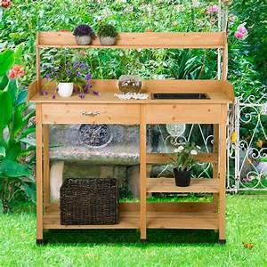 Potting, Table, Planter, Bench, Outdoor, Indoor, Workbench, Station, Garden, Planting, Wood, Shelves