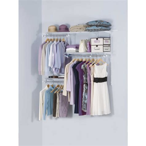 simple dressing room with rubbermaid closet organizers