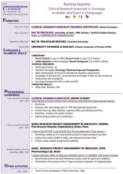 international clinical research associate romina moyano