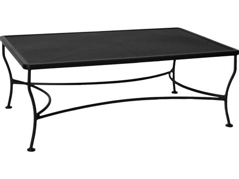 ow mesh wrought iron 48 x 30 rectangular coffee table