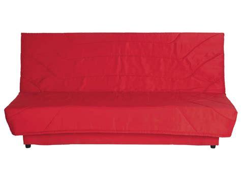 conforama canapé lit clic clac banquette clic clac en tissu coloris vente de