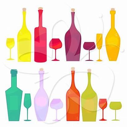 Wine Clip Clipart Tasting Bottle Bottles Glasses