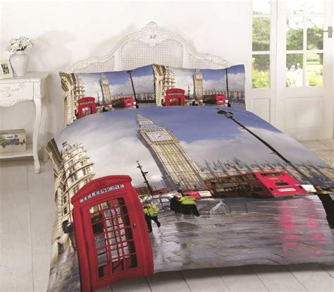 London Duvet Cover Bedding Set Single Double King Super