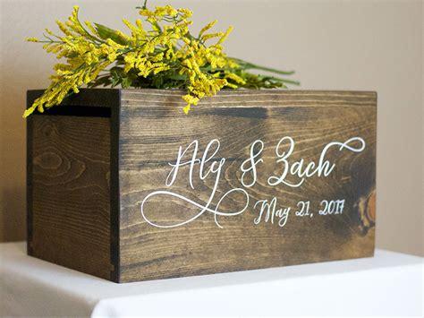 wedding card box wedding card box box rustic wedding rustic card box