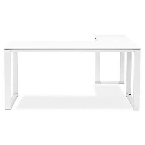 bureau dangle design corporate en bois blanc