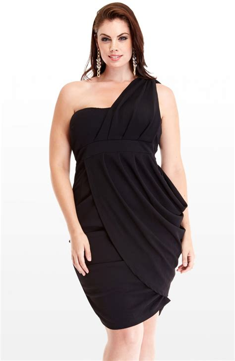 Black Clubwear Plus Size Club Dresses for Women