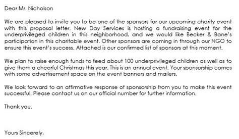 sponsorship letter samples write  sponsorship letters