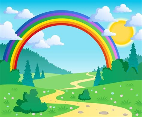 Rainbow Animated Wallpaper - childrens wallpaper rainbow wall mural