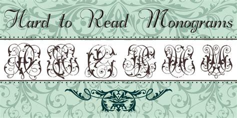 hard  read monograms font dafontcom