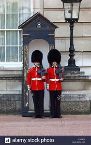 Scots Guards of Two Royal Queen's Guards outside ...