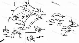 Honda Atv 1980 Oem Parts Diagram For Rear Fender