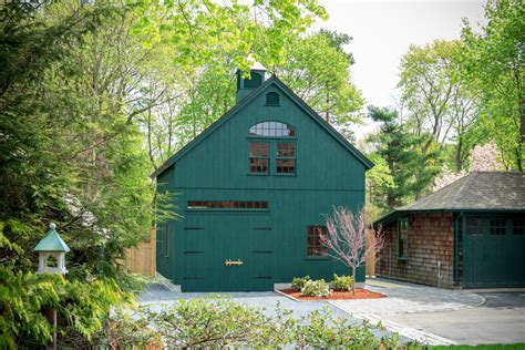 post beam carriage barn medfield ma  barn yard great country garages