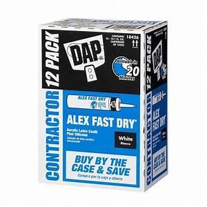 dap alex fast dry 101 oz acrylic latex plus silicone With fast drying bathroom caulk