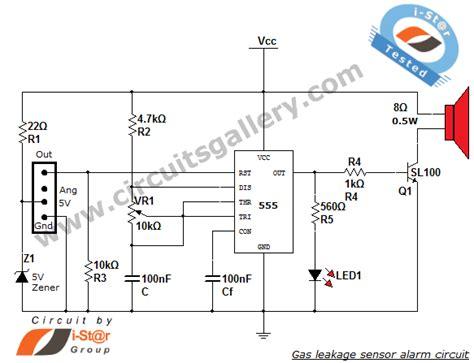 Gas Leakage Sensor Alarm Circuit Engineering Project Using