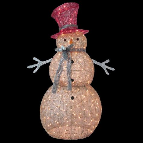 outdoor lighted christmas ornaments home accents holiday 5 ft pre lit gold snowman ty364 1411