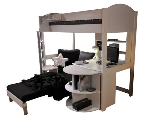 Stompa Casa Single High Sleeper Bunk Bed With Sofa Bed