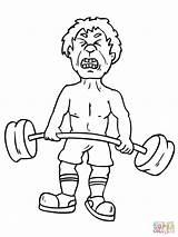 Coloring Exercise Pages Weightlifting Printable Exercising Workout Weights Snatch Lifting Weight Preschoolers Sheet Getcolorings Getdrawings Strongman sketch template