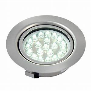 Recessed lighting top of led lights