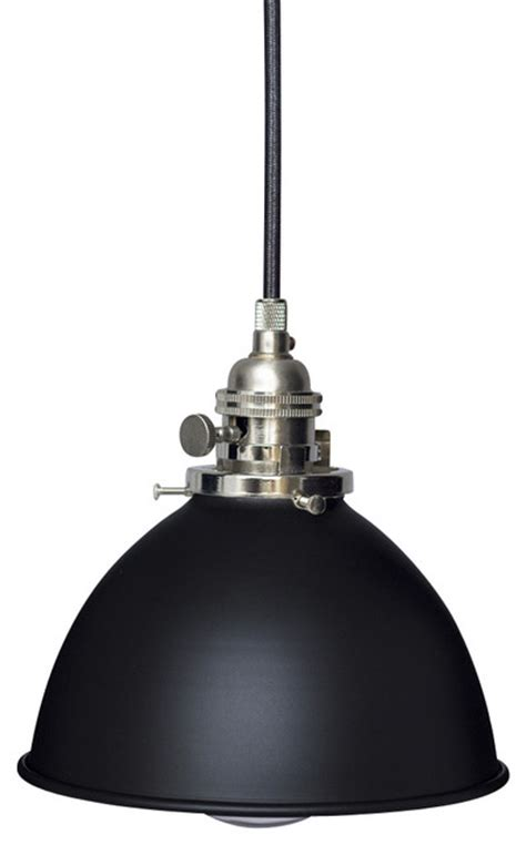 factory 7 1 16 quot black metal shade pendant light brushed