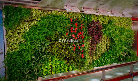 quality artificial plant wall vertical wall garden dongyi