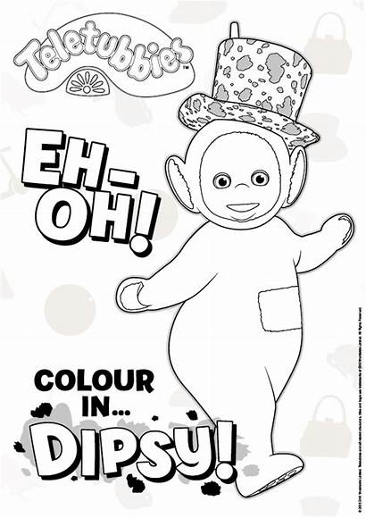 Teletubbies Coloring Pages Colouring Dipsy Sheets Party