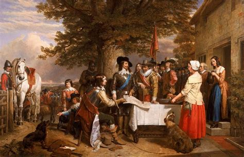 Charles Landseer - The Eve of the Battle of Edge Hill ...