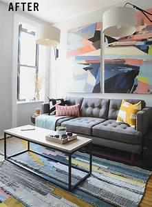 Small Mid Century Living Room