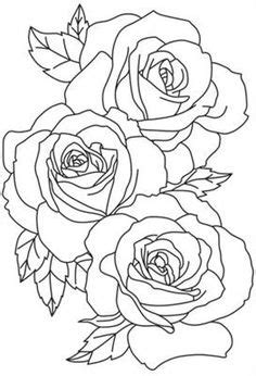 flower outline tattoos rose outline tattoo stencil