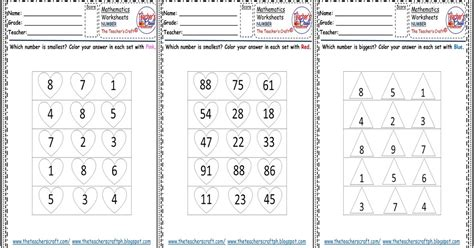 identifying smallest biggest numbers worksheets