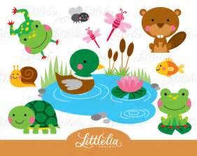 Pond Animals Clip Art