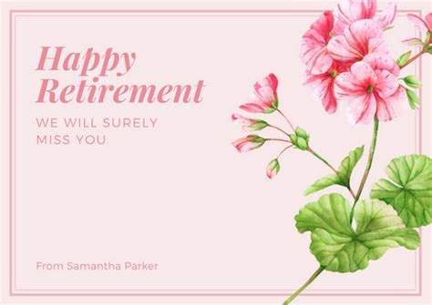 customize  retirement card templates  canva