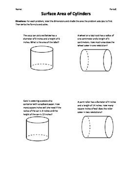 surface area of cylinders word problems by miss bee tpt