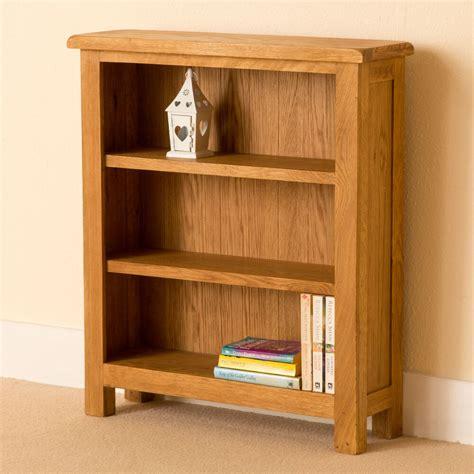 Small Bookshelf by Lanner Oak Small Bookcase Shelving Rustic Oak Waxed