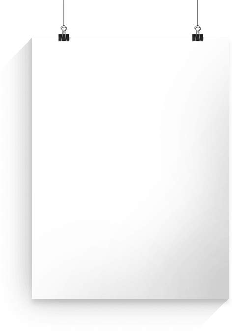 Download Transparent Poster White Banner Royalty Free