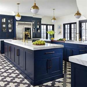 24, Royal, And, Warm, Blue, Kitchen, Design, Ideas