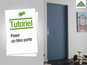 comment poser un bloc porte leroy merlin youtube With carrelage adhesif salle de bain avec tv led 121