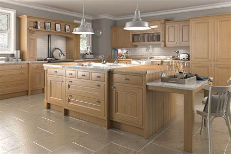 The above cabinets have great bones, but are they worth keeping as they are? Traditional in-frame oak kitchens | Think Kitchens ...